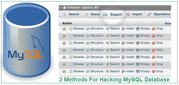 2 Methods For Hacking MySQL Database